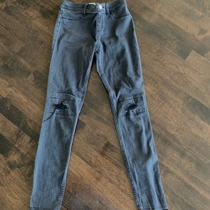Abercrombie Kids black ripped jeans